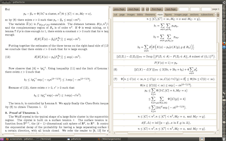 avec les équations